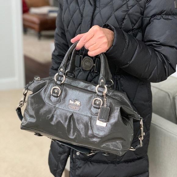 757bc4c817 Coach Bags   Madison Sabrina Dark Gray Patent Leather   Poshmark